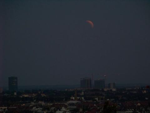 Mondfinsternis 2018 über München
