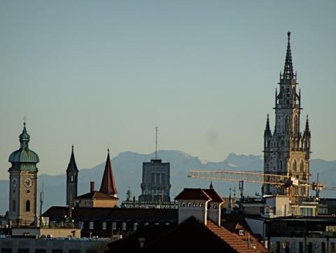 Föhnblick auf München