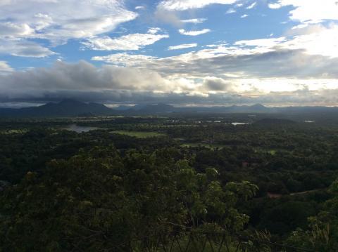 Blick vom Sigiriya Felsen