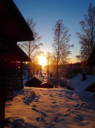 Winter an den Saimaaseen