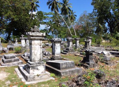 Friedhof der ersten Siedler auf La Digue
