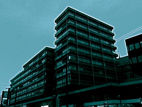 Braunschweig Innenstadt in grau