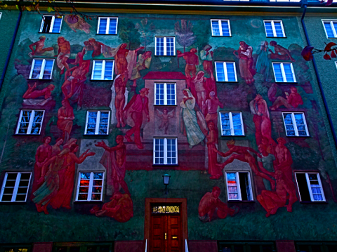 Wandbemalung in der Borstei München