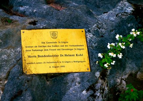 Helmut Kohl Park in St. Gilgen am Wolfgangsee