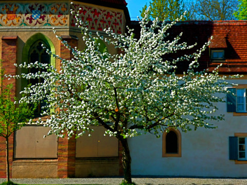 Innenhof Schloss Blutenburg
