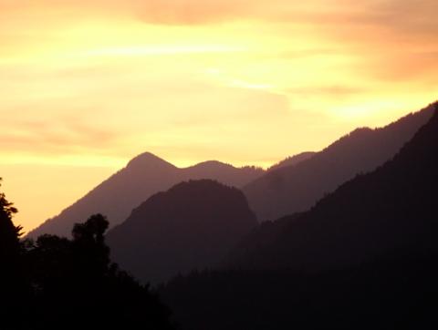 Sonnenuntergang bei Garmisch-Partenkirchen