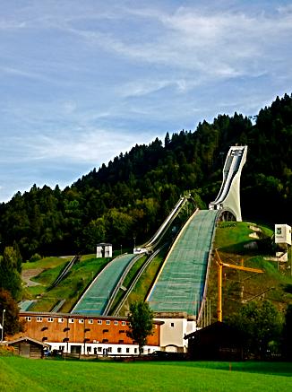 Skisprungschanze bei Garmisch-Partenkirchen