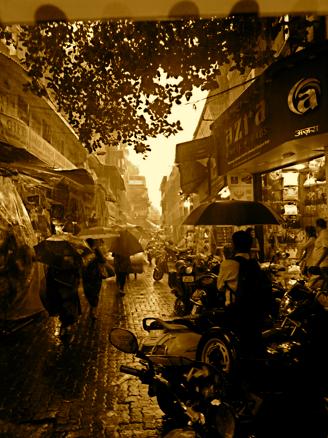 Mumbai Markt Monsun