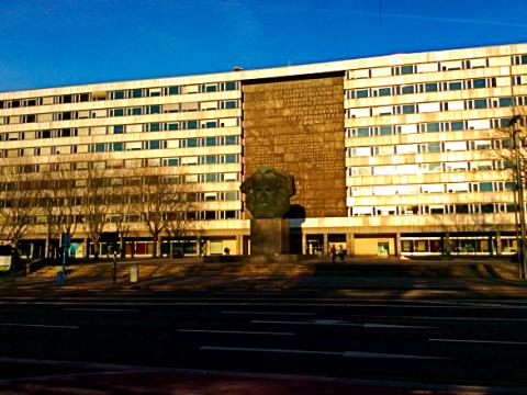 Karl-Marx-Kopf in Chemnitz