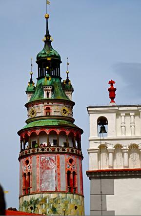 Turm vom Schloß Krumau