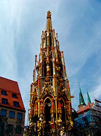 Schöner Brunnen in Nürnberg