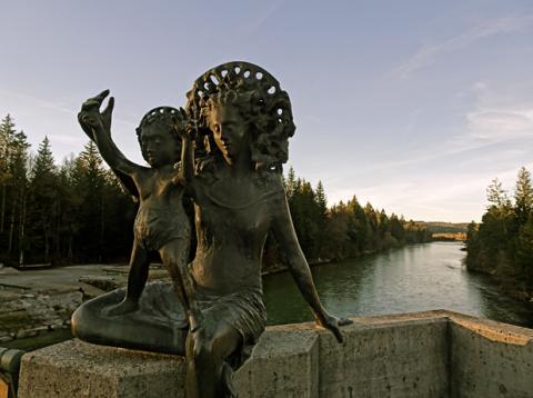 Die Marienbrücke zwischen Puppling und Wolfratshausen