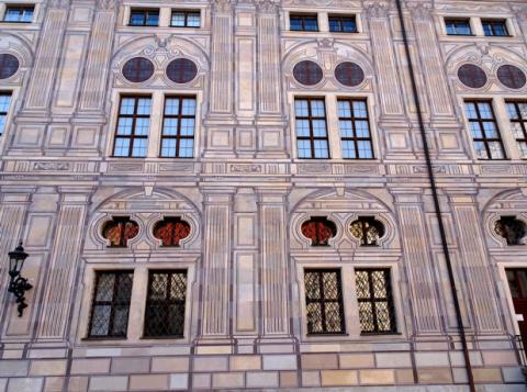 Fassade im Residenz-Innenhof