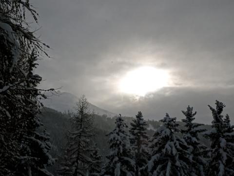Auf der hohen Promenade in Davos