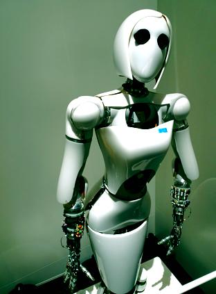 Roboter Aila im Futurium in Berlin