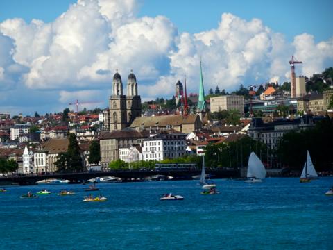 Zürich vom See aus
