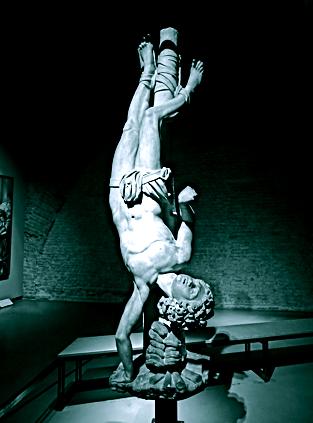 Statue von St. Agapitus im Dommuseum Mailand