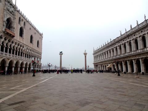 Leere beim Karneval von Venedig 2020 unter Coronaeinfluss