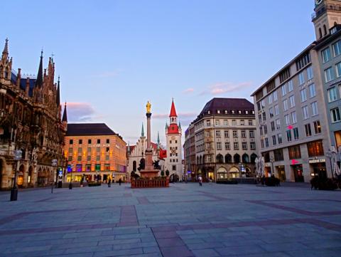 Der Marienplatz zu Coronoa-Zeiten