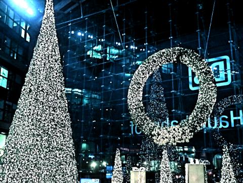 Weihnacht am Berliner Hauptbahnhof