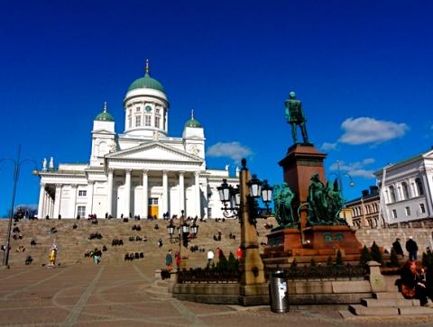 Helsinki Senatsplatz und Dom