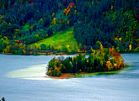 Die Wörth - Insel im Schliersee