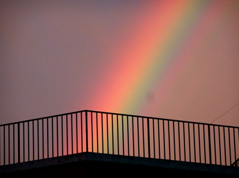 Regenbogen über Venedig