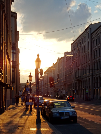 Sonnenuntergang in der Maximilianstraße