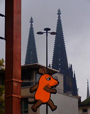 Kölner Dom und Maus