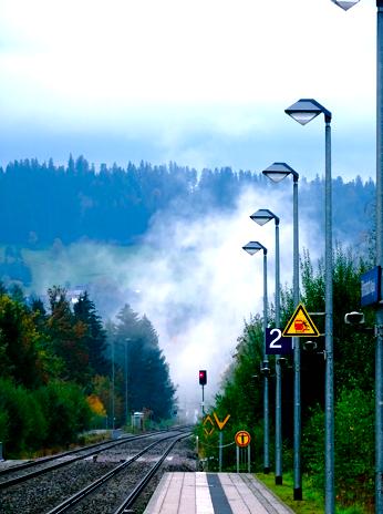 Am Bahnhof von Heimenkirch im Allgäu