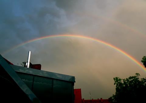 Regenbogen über der Maxvorstadt