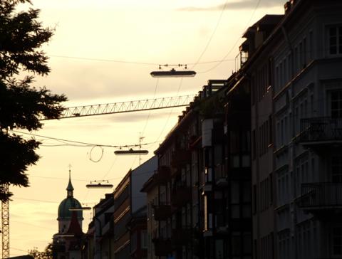 Auf der Adalbertstraße in der Maxvorstadt