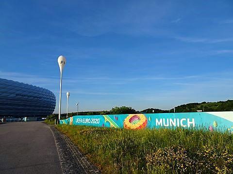 Euro 2021 Schmuck an der Fröttmaniger Arena