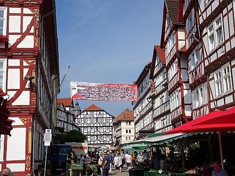 Markt in der Altstadt von Eschwege