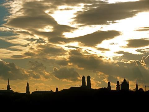 München Stadtsilhoette