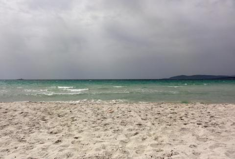 Am Strand von Alghero
