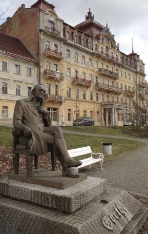 Goethe Denkmal Marienbad