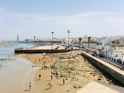 Am Strand von Rabat